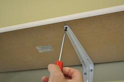 Fixing shelf to brackets